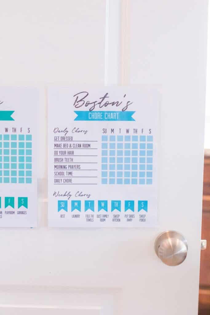 Free Kids Printable Chore Chart
