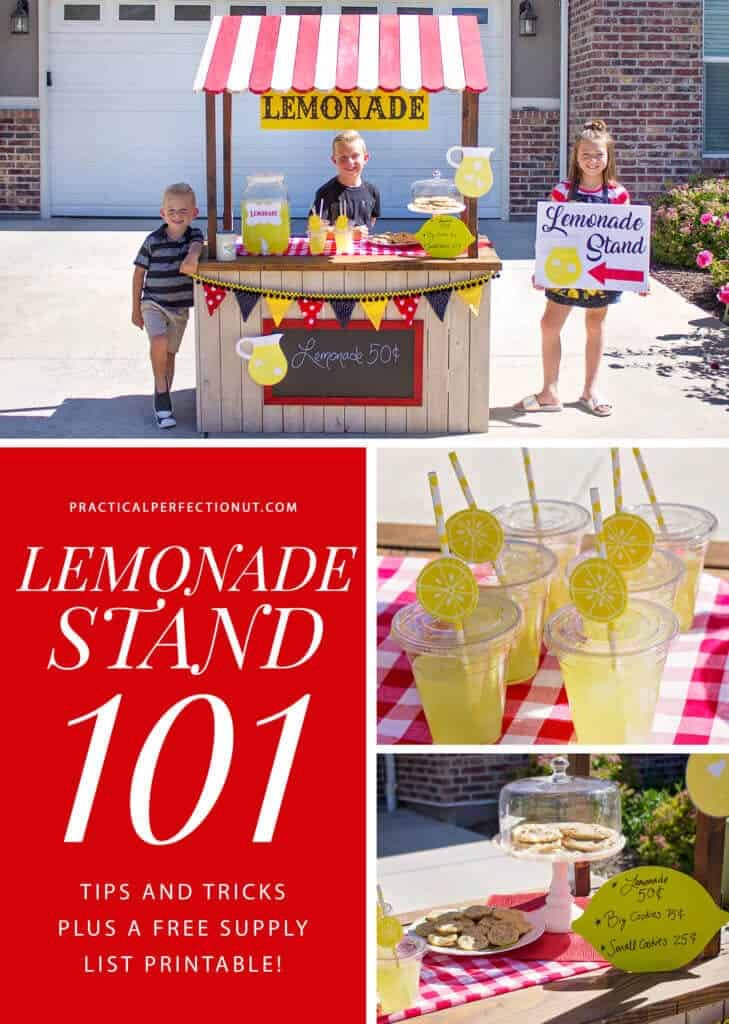 tips for a kids lemonade stand