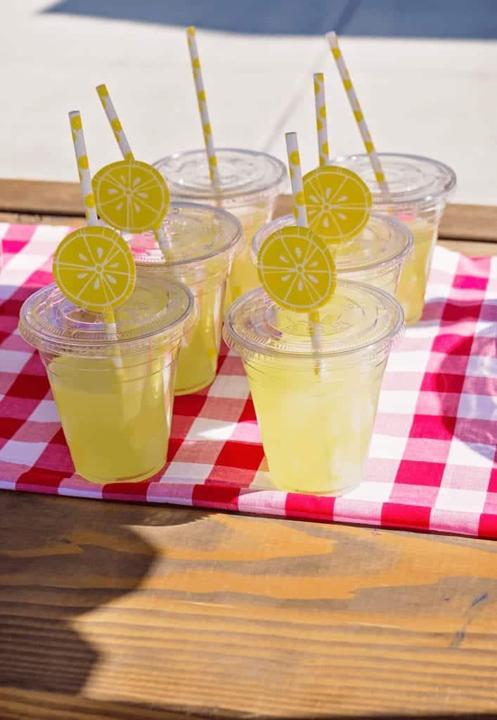 kids lemonade stand cups