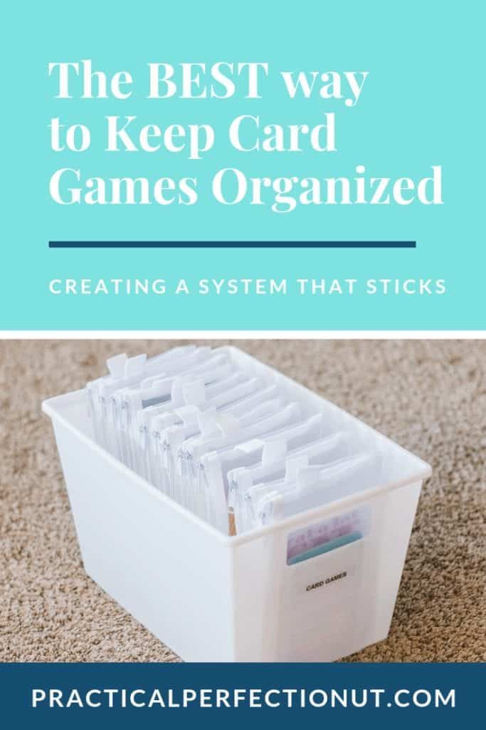 how to organize card games