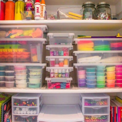And Easy Step by Step Guide for creating a Kids Art Closet