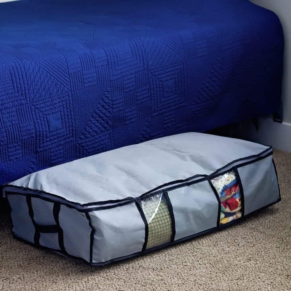 under the bed blanket storage