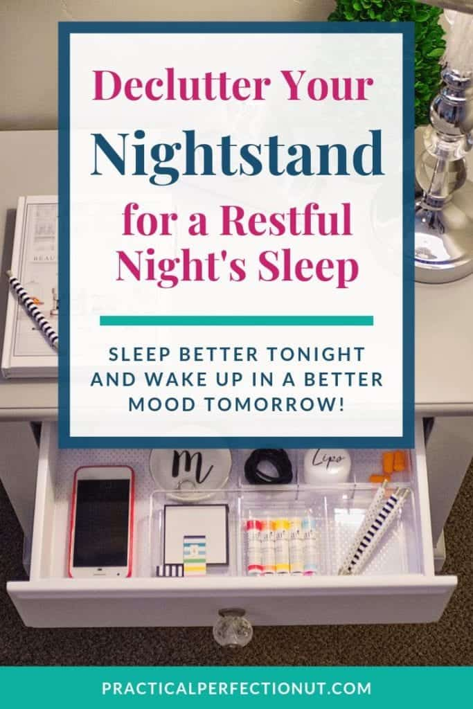 Nightstand Organization for a Restful Night's Sleep