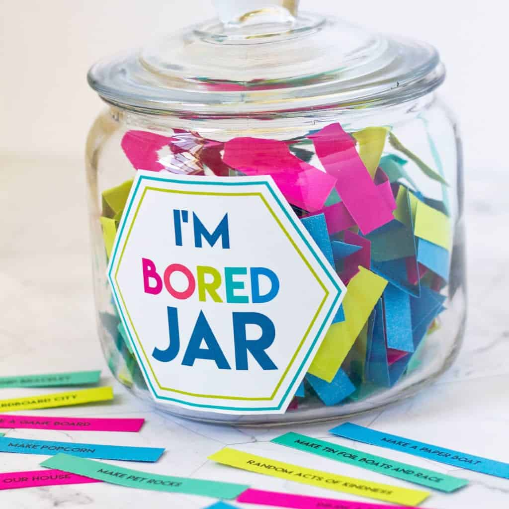 boredom buster kids summer activity jar