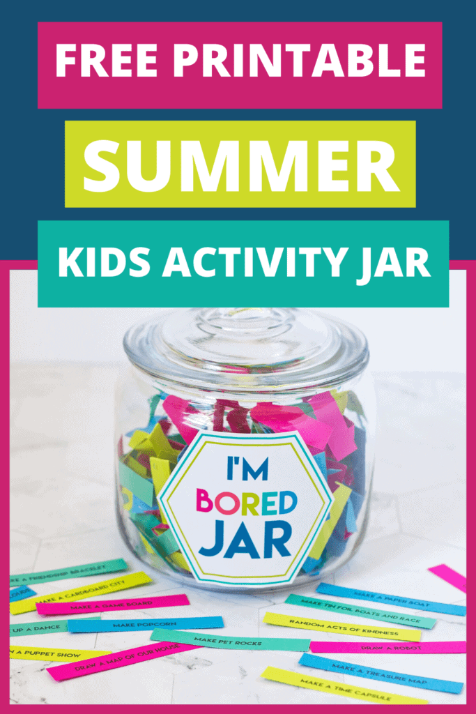 Kids summer activity jar