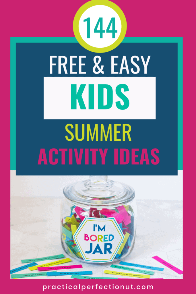 kids summer idea jar