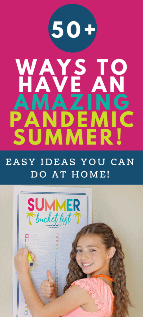 pandemic summer bucket list