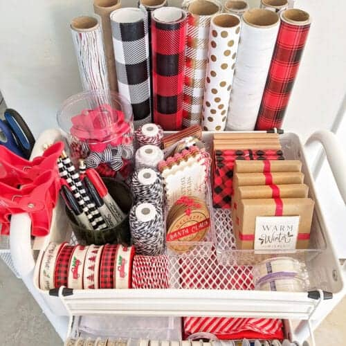 How to Create an Organized Gift Wrap Station on a Budget