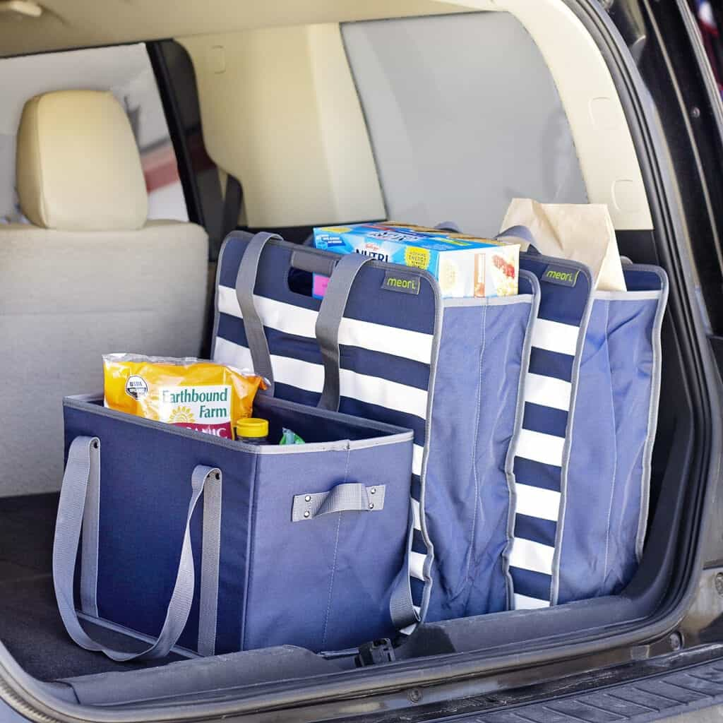 bags in the trunk for road trip