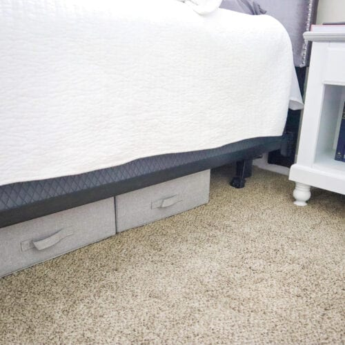 17 Practical Ideas for Organizing Under Your Bed